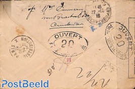 Letter from Amsterdam to Paris, censored by Military Authority