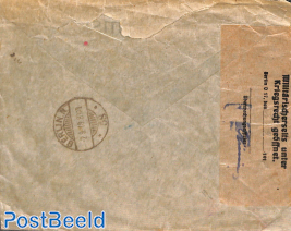 Censored express mail letter from Amsterdam to Berlin