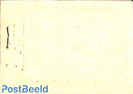 Definitives booklet with blank backside