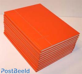 10 x Stockbook 8 pages Dutch Orange