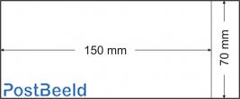 500 bolsas de pergamino 70x150mm