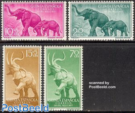 Elephants, stamp day 4v