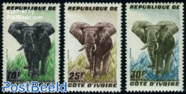 Definitives, elephant 3v