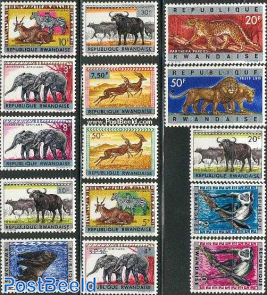 Animals overprints 15v
