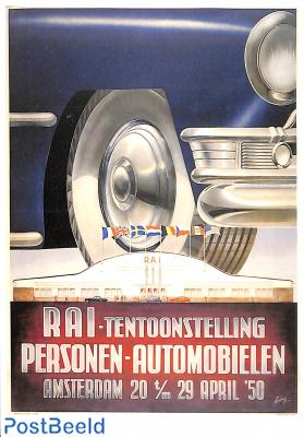 Rai tentoonstelling Personen Automobielen 1950