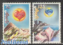Love stamps 2v