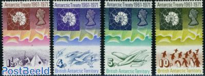 Antarctic treaty 4v