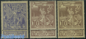 Brussels exposition 3v with tabs