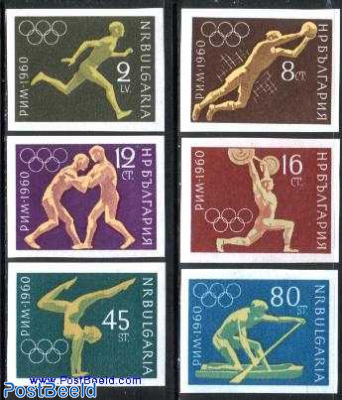 Olympic games Rome 6v imperforated