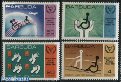 Int. year of disabled people 4v