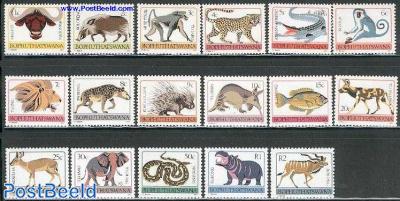 Definitives, animals 17v