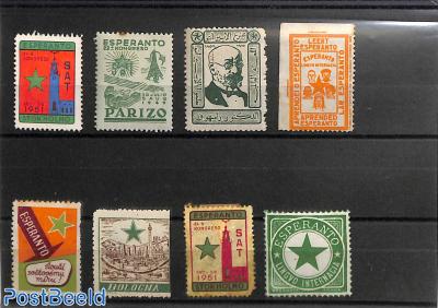 Collection of Esperanto seals 8v