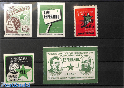 Collection of Esperanto seals 5v