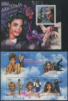 Michael Jackson, Whitney Houston, 2 s/s