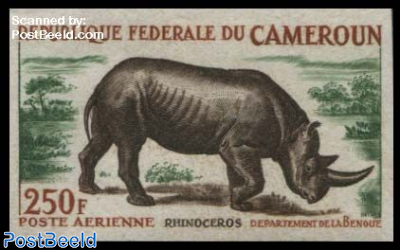 Rhinoceros 1v, imperforated