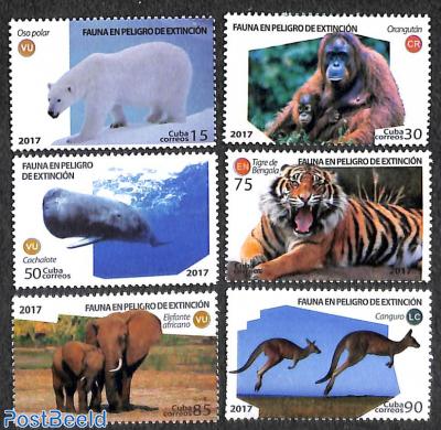 Wild mammals 6v