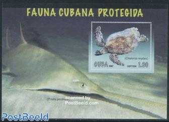 Endangered animals, turtle s/s