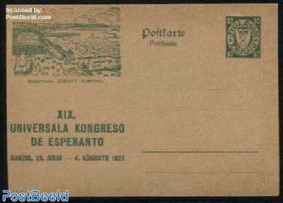 Illustrated Postcard, Esperanto congress, 10pf, Zoppot