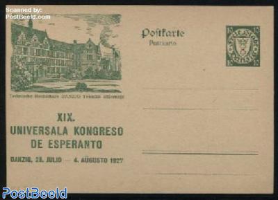 Illustrated Postcard, Esperanto congress, 10pf, Technische Hochschule