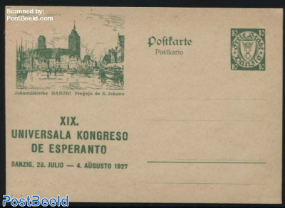 Illustrated postcard, Esperanto, 10pf, Johanniskirche