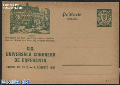 Illustrated Postcard, Esperanto congress, 10pf, Winterplatz