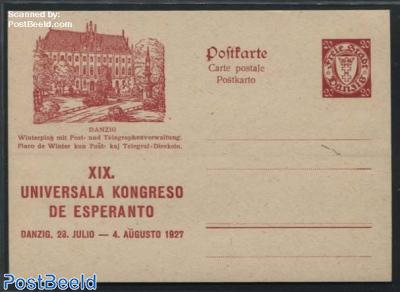 Illustrated Postcard, Esperanto, 20pf, Winterplatz