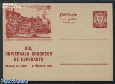 Illustrated Postcard, Esperanto, 20pf, Technische Hochschule