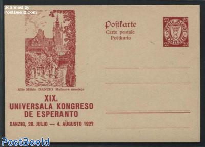 Illustrated Postcard, Esperanto, 20pf, Old Mill