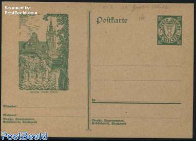Illustrated postcard 10pf, Grosse Muehle
