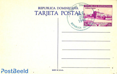 Illustrated Postcard 9c, unused with postmark