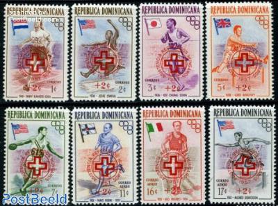 Hungary aid overprints 8v