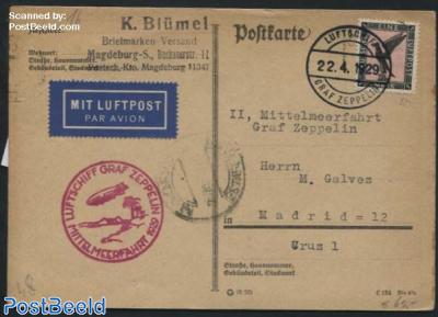 Zeppelin Post Mittelmeerfahrt, Graf Zeppelin