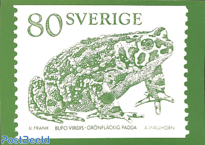 Swedish stamp with toad