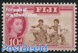 10p, WM4, Stamp out of set