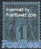 Definitive, plate flaw: black on prussian blue 1v