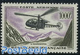 Airmail definitive, helicopter 1v