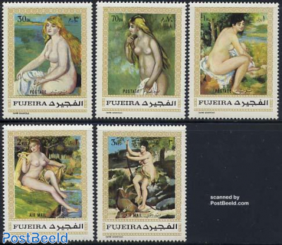 Renoir paintings 5v