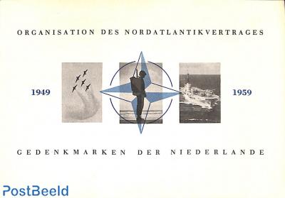 Original Dutch promotional folder from 1959, NATO stamps, German language