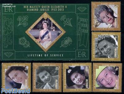 Elizabeth II Diamond jubilee 6v+s/s