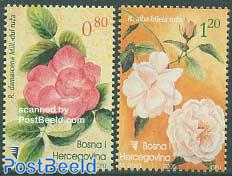 Roses 2v, fragrant stamps
