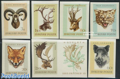 Hunted animals 7v imperforated