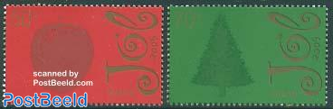 Christmas 2v, fragrant stamps