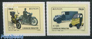 Europa, postal transport 2v s-a