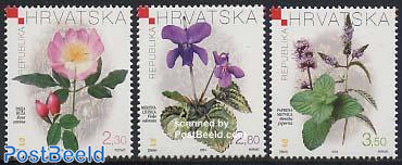 Flowers 3v, fragrant stamps