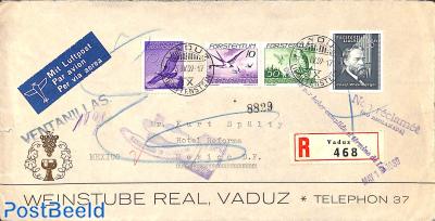Registered letter to Mexico, returned