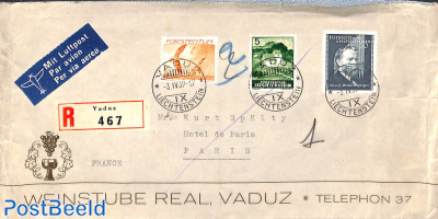 Registered letter to Paris