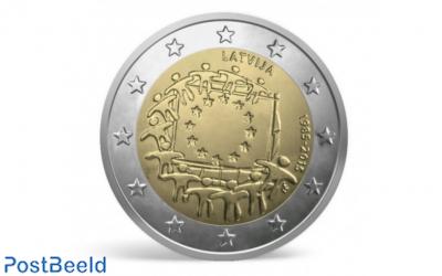 2 Euro 2015 European Flag