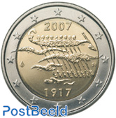 2 euro 2007 90 Years Finland