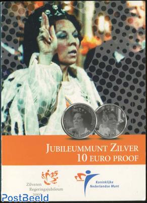 10 euro 2005 Silver Jubilee Beatrix Proofset