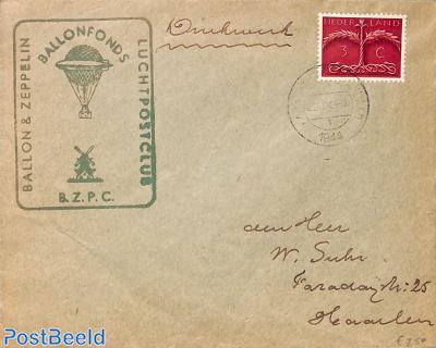 Ballonfonds, printed matter letter with NVPH No. 409